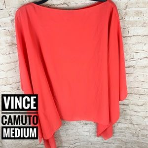 Vince Camuto Chiffon Butterfly Sleeve Poncho Top